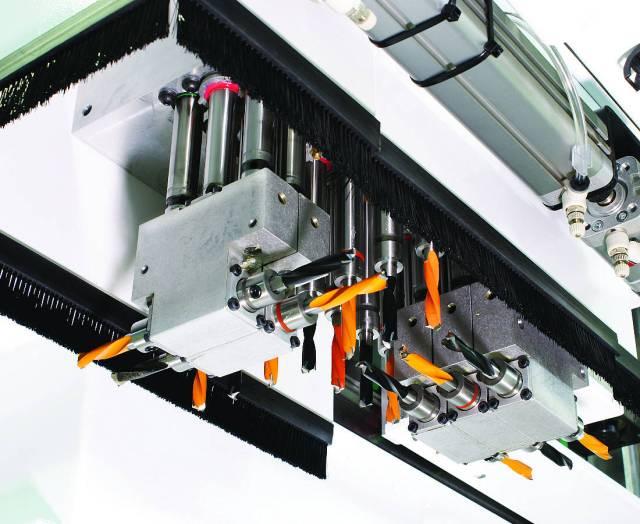 23-х шпиндельный сверлильный узел центра с ЧПУ ARGO, производство Greda Италия