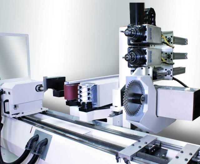 Электрошпиндели, пильная, фрезерная и шлифовальные группы обрабатывающего центра с ЧПУ Greda POKER V
