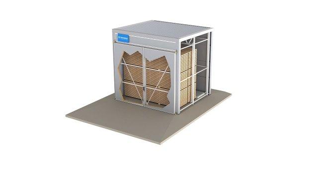 Камера для высокотемпературного пропаривания древесины VAP, производство Incomac (Италия)