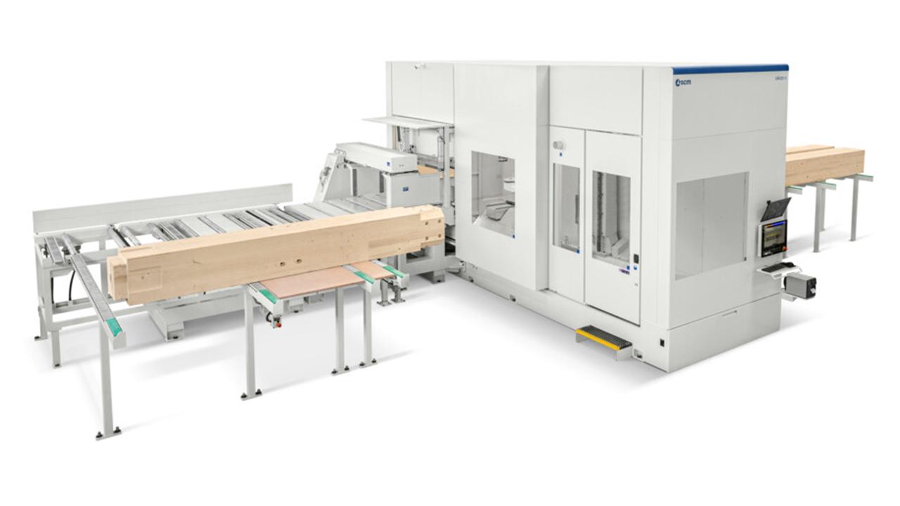 Обрабатывающий центр с ЧПУ для домостроения Oikos XL, производство SCM (Италия)