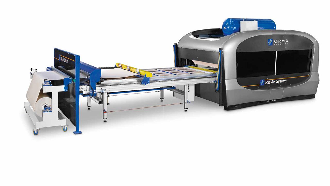 Мембранный пресс с 1 загрузочным лотком AUTOMATION 1 TRAYS, производство ORMA Macchine (Италия)