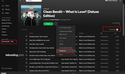 Aplikasi Spotify di Mac OS X