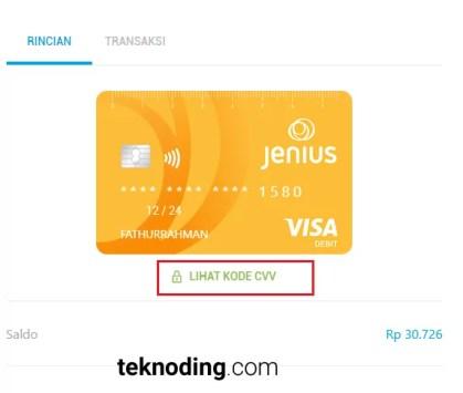 cara verifikasi akun paypal dengan kartu debit e card btpn jenius