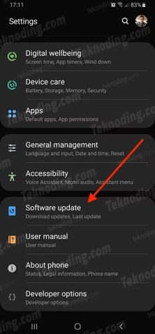 cara update android 10 samsung a30s