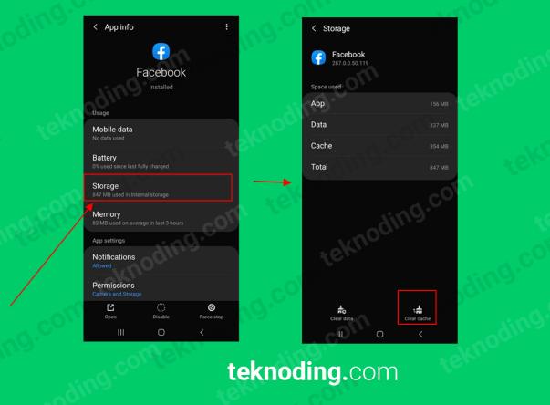 cara clear cache aplikasi android
