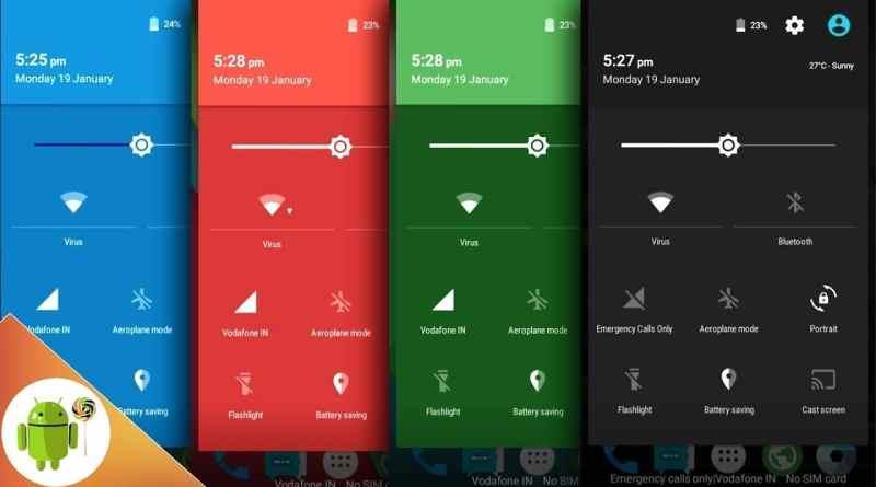 Bildirim Paneli Rengi Değiştirme Android