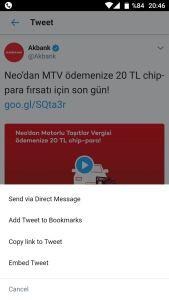 Twitter telefondan video indirme
