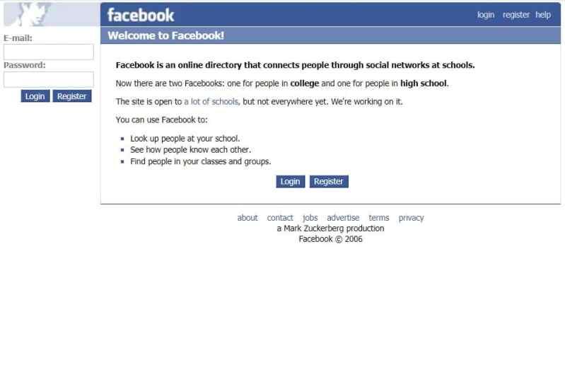 facebook eski hali