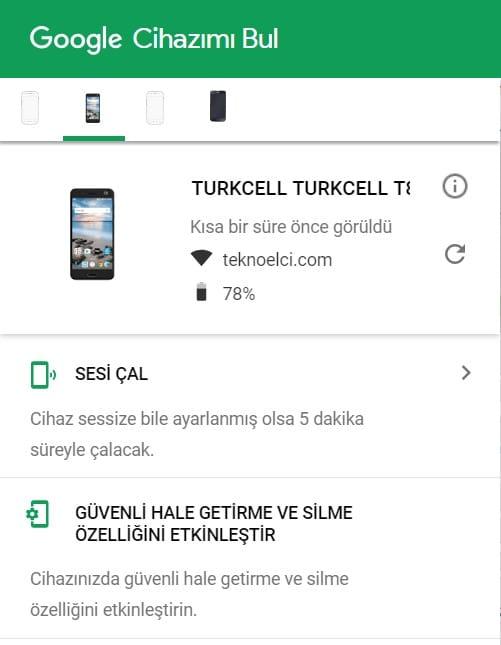 android cihaz takip kayıp telefon nasıl bulunur