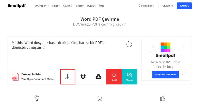 hazır bir word dosyası nasıl pdf haline getirilir
