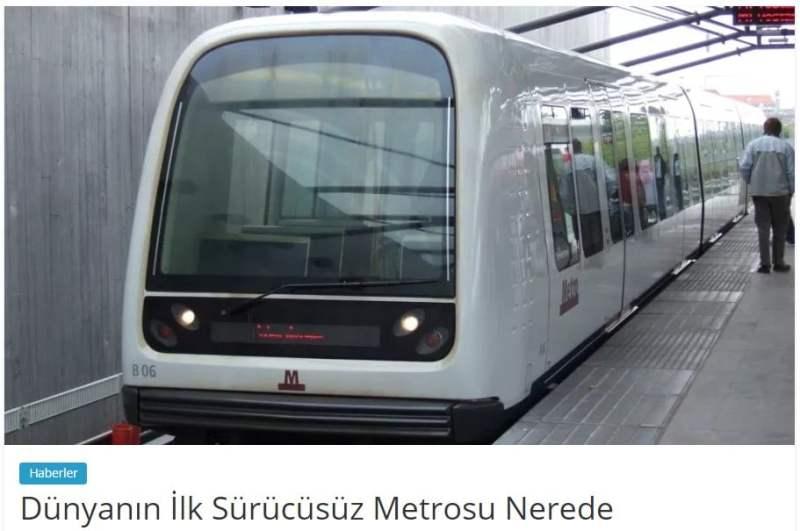 Dünyanın ilk sürücüsüz metrosu nerede
