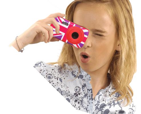 Digital Camera with 3 decorative Girly Illustrations 3