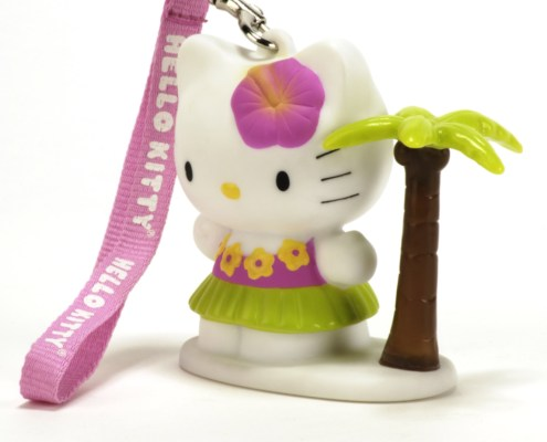HELLO KITTY BEACH 8cm LED light with hand-strap 3