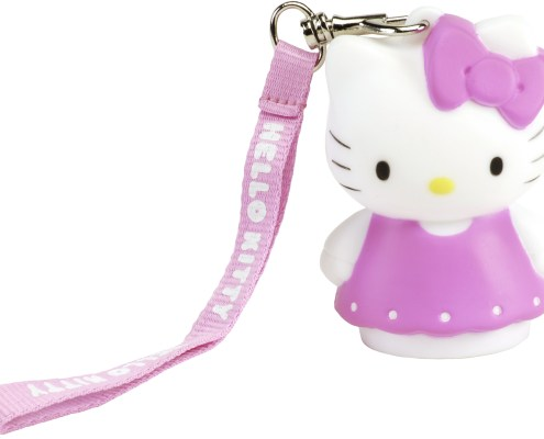 Figurine lumineuse Hello Kitty Robe rose 8 cm 4