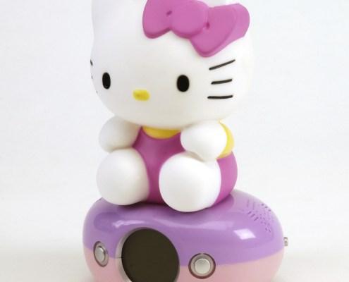 Night Light Digital Alarm Clock HELLO KITTY PINK DRESS 4