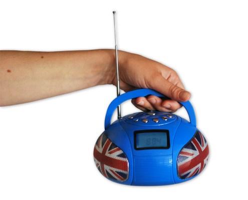 Mini Boombox Bleu UK 3
