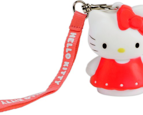 Hello Kitty red dress 8cm LED light 3