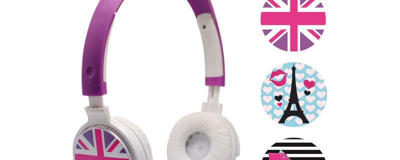 Casque audio personnalisable 3 faces Girly 1