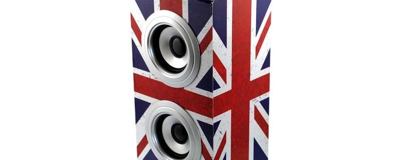Wireless Tower Speaker UK GRUNGE 1