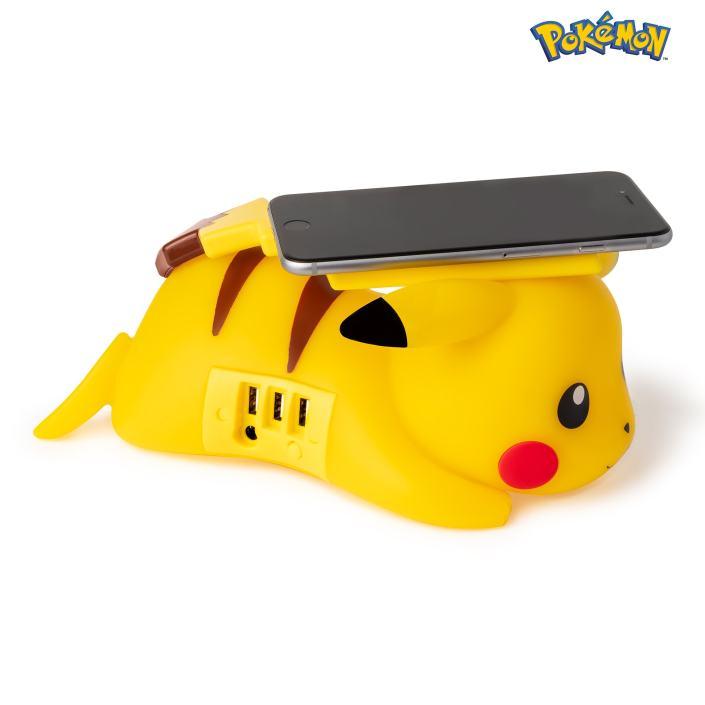 Chargeur sans fil pokémon pikachu côté droit