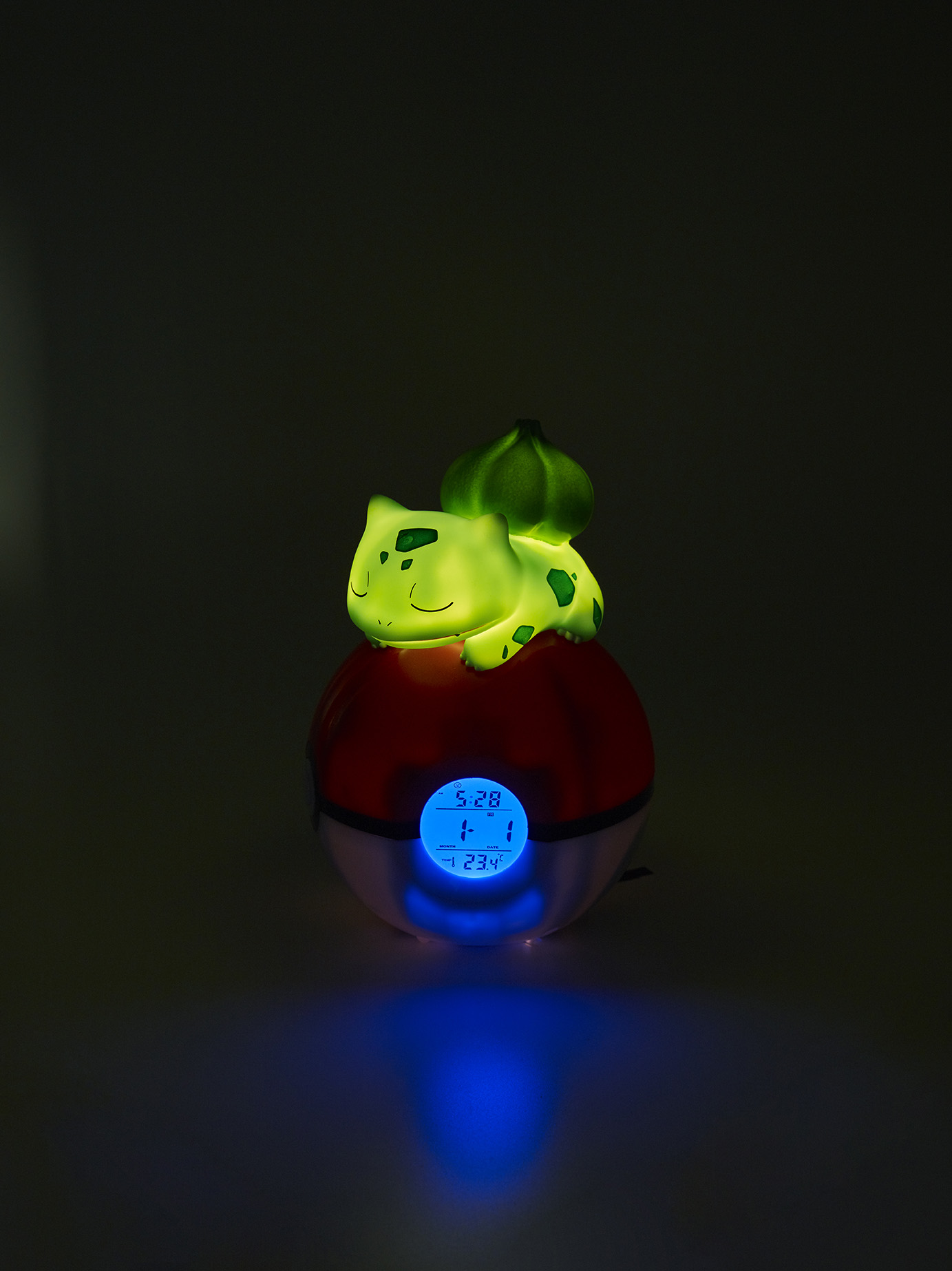 Pokémon Bulbasaur Light-up 3D figure FM Alarm Clock 3