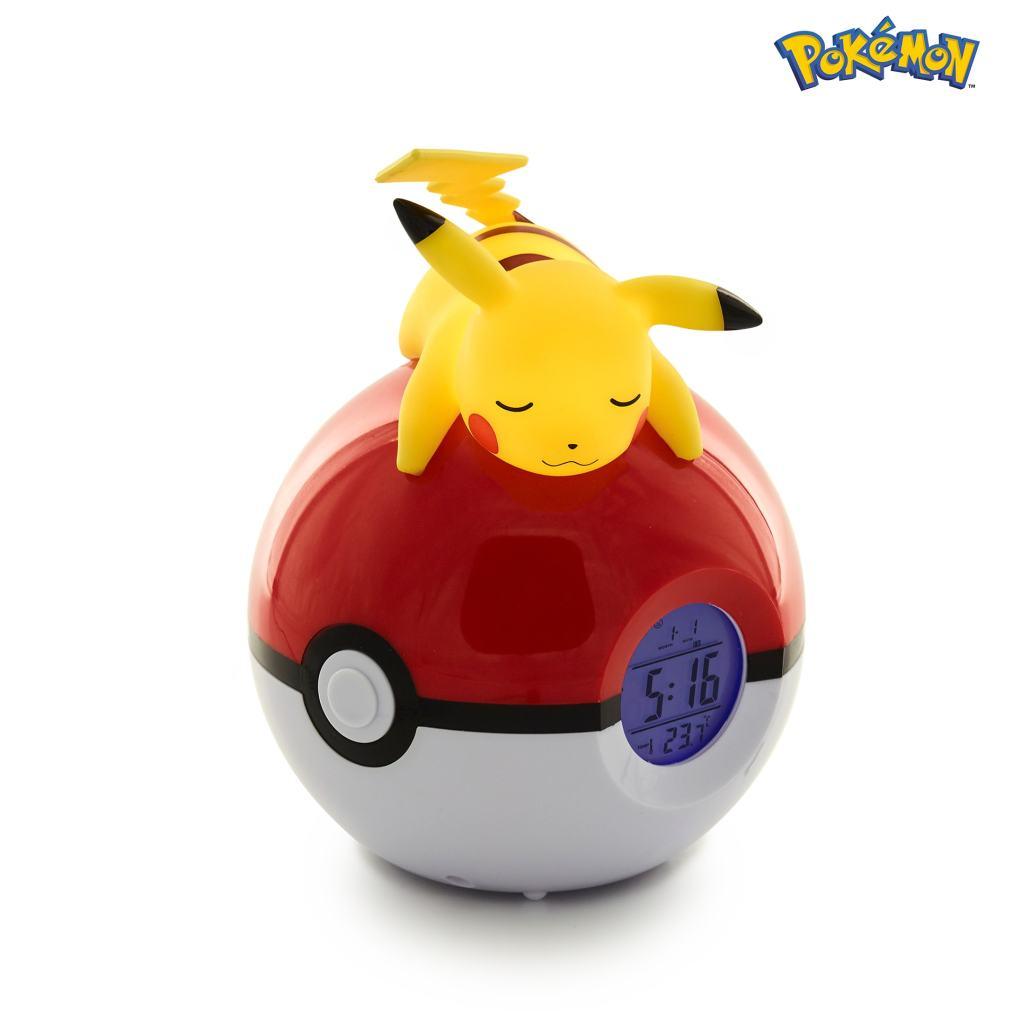 Radio despertador luminoso Pokémon Pikachu 2