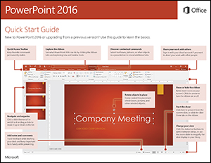 PowerPoint 2016 Quick Start Guide