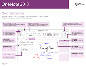 OneNote quickstart guide icon