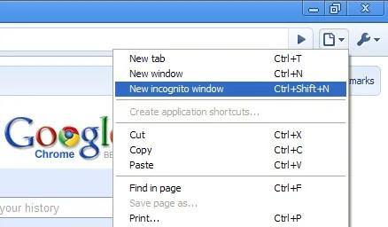 Kwenye Chrome 'Private Browsing'inafahamika kama ''incognito mode. Kwenye Firefox unaweza bofya CTRL+SHIFT+P kwenye kwenye 'Private Mode