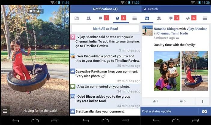 Muonekano wa app hiyo ya Facebook Lite