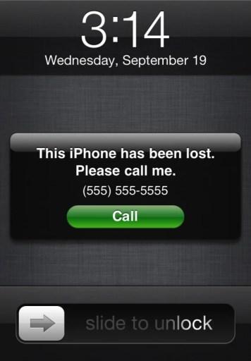 Namna ujumbe wako utakavyosomeka katika simu iliyofungwa kwa Find My iPhone