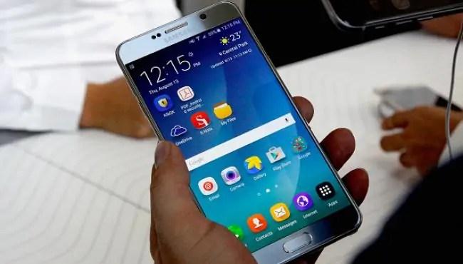 Simu janja aina ya Samsung galaxy note 7.