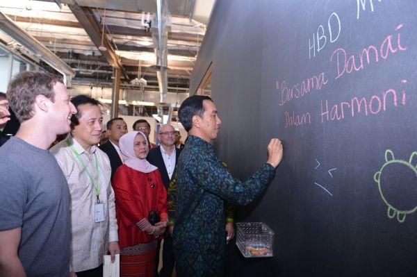 Joko Widodo, Jokowi, Facebook, Mark Zuckerber