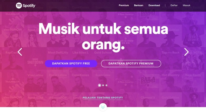 streaming musik, spotify, indonesia