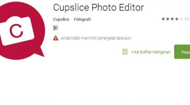 Aplikasi, Cupslice, Edit Foto, Android