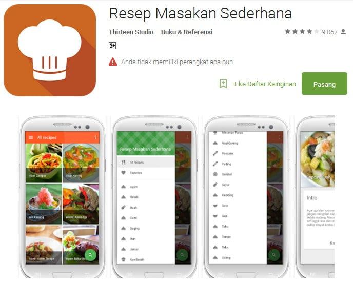 Resep Masakan Sederhana