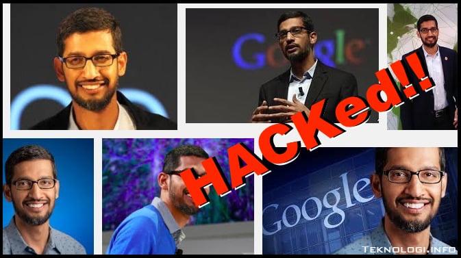Sundar Pichai CEO Google dihack