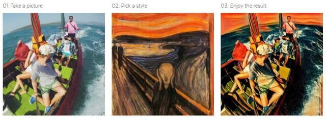 aplikasi edit foto seperti lukisan di android Prisma
