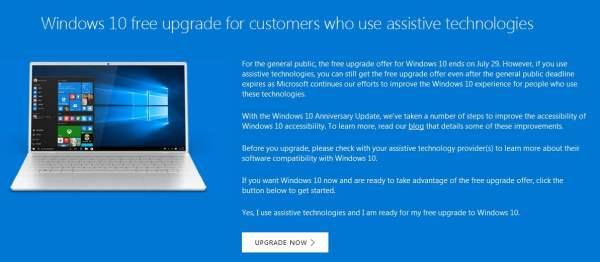 Windows 10 masih menawarkan upgrade gratis setelah tanggal 29 Juli 2016