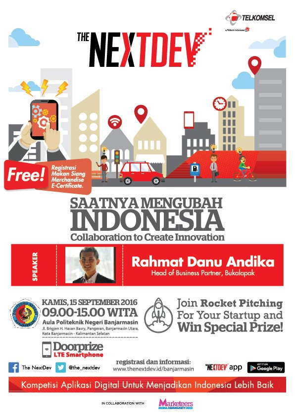Poster The NextDev Roadshow di Banjarmasin