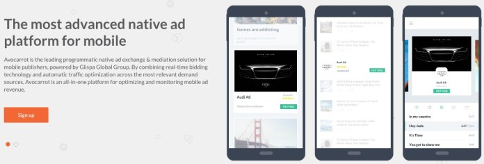 Native Ads Mobile Ad Exchange Avocarrot