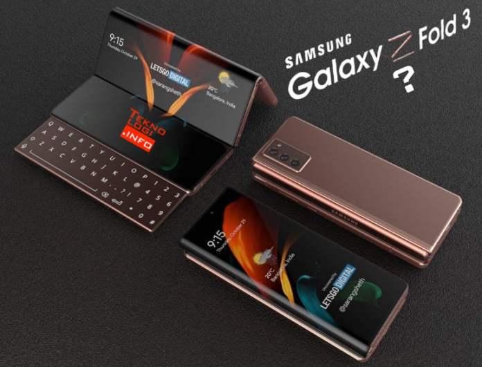Render Samsung Z Fold 3