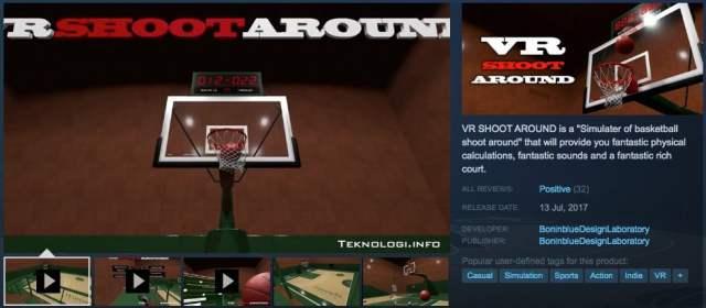 VR SHOOT AROUND Realistic basketball simulator di Steam