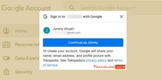 nonaktifkan fitur masuk dengan google