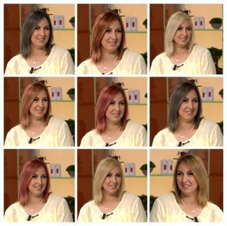 Saç Rengi Deneme Uygulaması Teknolojik Anneler