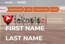 Photo of Mars 2020 bileti alma, isim yazdırma nasıl yapılır?