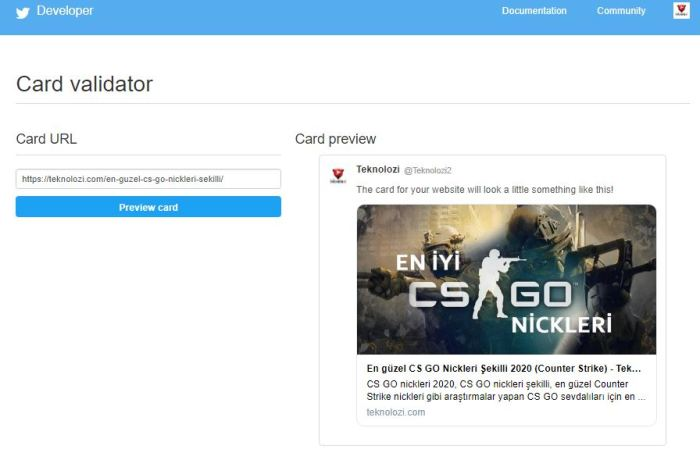 Siteye Twitter cards ekleme, twitter kart ekleme nasıl yapılır?