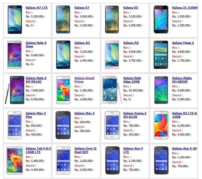 Harga Jual Tab Samsung Bulan
