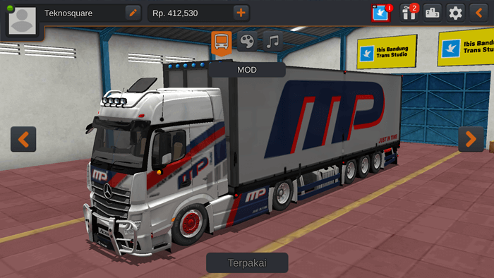 MOD BUSSID Mercedes Benz New Actros V2 by RSM Garage