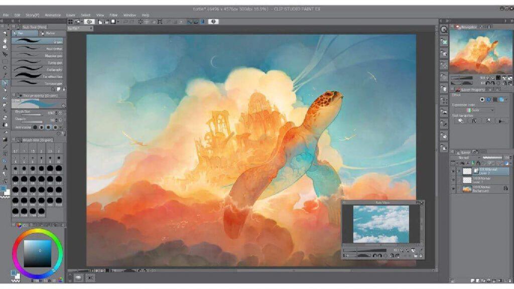 Gambar Clip Studio Paint Pro